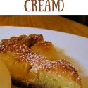 """pin for frangipane showing a slice of pear and almond tart. Text reads """"how to make frangipane (almond cream)"""""""