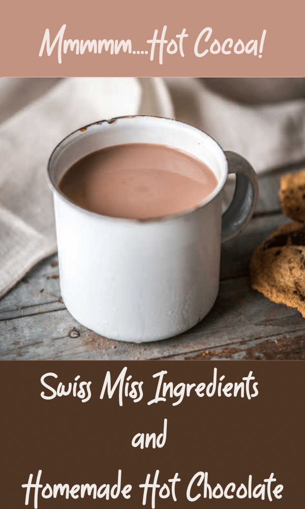 Looking for a Swiss Miss hot chocolate upgrade? I'm here to help! Learn the ingredients in packaged Swiss Miss, where to buy it, and get your burning questions answered. Is it Vegan? Is it dairy free? Plus links to recipes for homemade hot chocolate and hot cocoa. #hotcocoa #hotchocolate