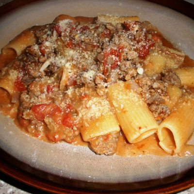 Sunday Suppers (Monday Edition):  Sausage and Veal Rigatoni