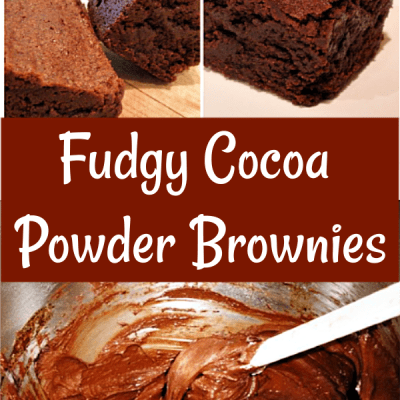 Fudgy Brownies Made with Cocoa Powder