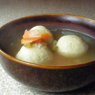 Sunday Suppers, Monday Evening Edition:  Matzo Ball Soup