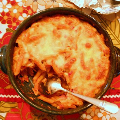 "Sunday Suppers: Baked Pasta with Vegetarian ""Meat"" Sauce. Or The Pasta I Could Not Stop Eating."