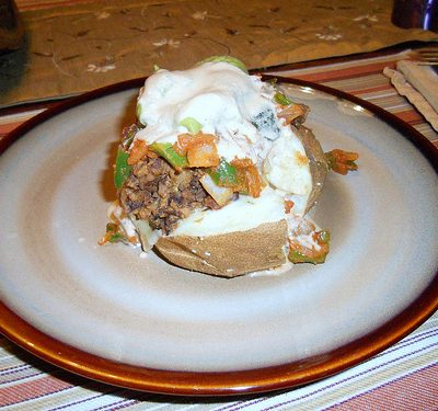 Auction Winner and a Sunday Supper: Mexican Taters