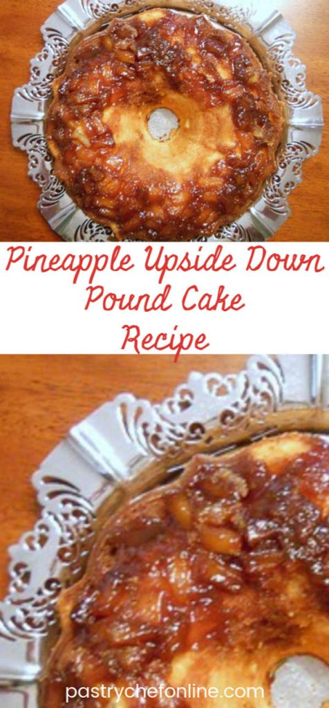 pin image for pineapple upside down pound cake recipe