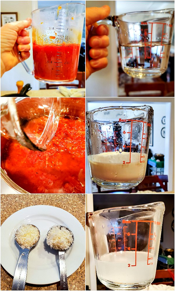 6 image step by step process shots of how to make vodka sauce
