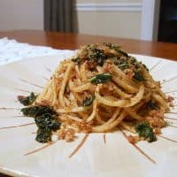 Pasta with Kale, Blood Orange and Breadcrumbs