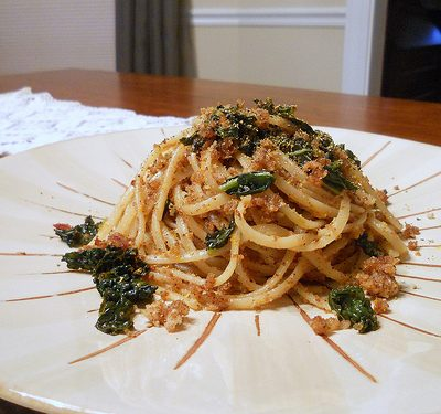 Food52sday Recipe Interpretation: Pasta with Kale, Blood Orange and Breadcrumbs
