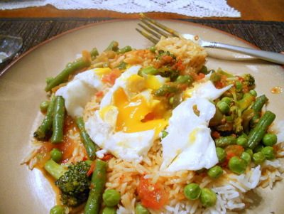Green Veggie Stir Fry with Eggs: Sunday Suppers–Warm as Life