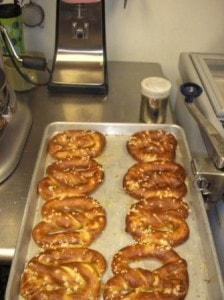 fresh bread pretzels