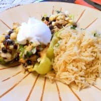Mexican-Inspired Stuffed Peppers with Cilantro-Lime Rice