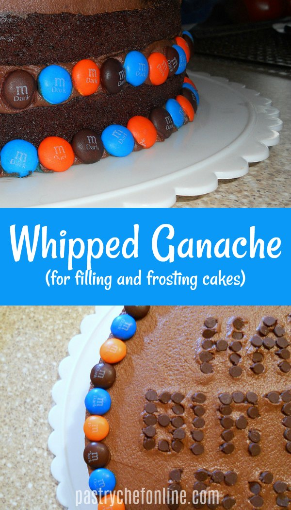If you are looking for a cake filling or frosting for the serious chocolate lover, look no farther than whipped ganache frosting and filling. Learn tips and tricks for success and get the frosting recipe that is so easy you can memorize it and make it pretty much wherever you go! #frostingrecipes #ganache