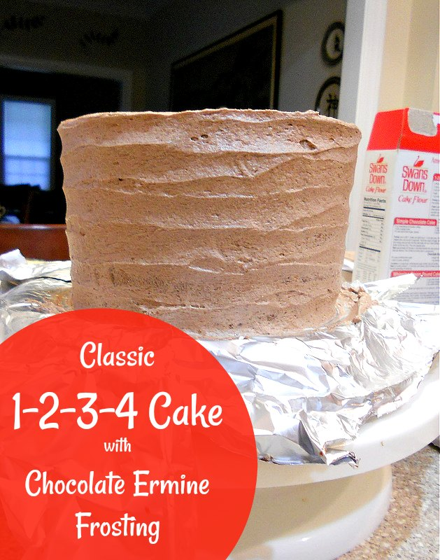 The old-fashioned 1-2-3-4 cake is my idea of a classic birthday cake. With a texture somewhere between a pound cake and a bakery sheet cake and a recipe that is really easy to remember, you can pretty much make cake whenever you want! Remember: 1 cup butter, 2 cups sugar, 3 cups flour, and 4 eggs, plus salt, vanilla, leavening, and milk. Paired with chocolate ermine frosting, it doesn't get much better! #birthdaycake #cakerecipes | pastrychefonline.com