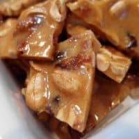 Hard Cider Peanut Brittle with Maple Syrup and Bacon