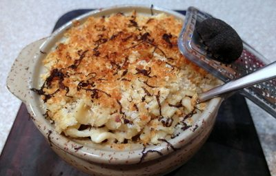 Sunday Supper (Tuesday Edition): Macaroni and Cheese with Shaved Perigord Truffle