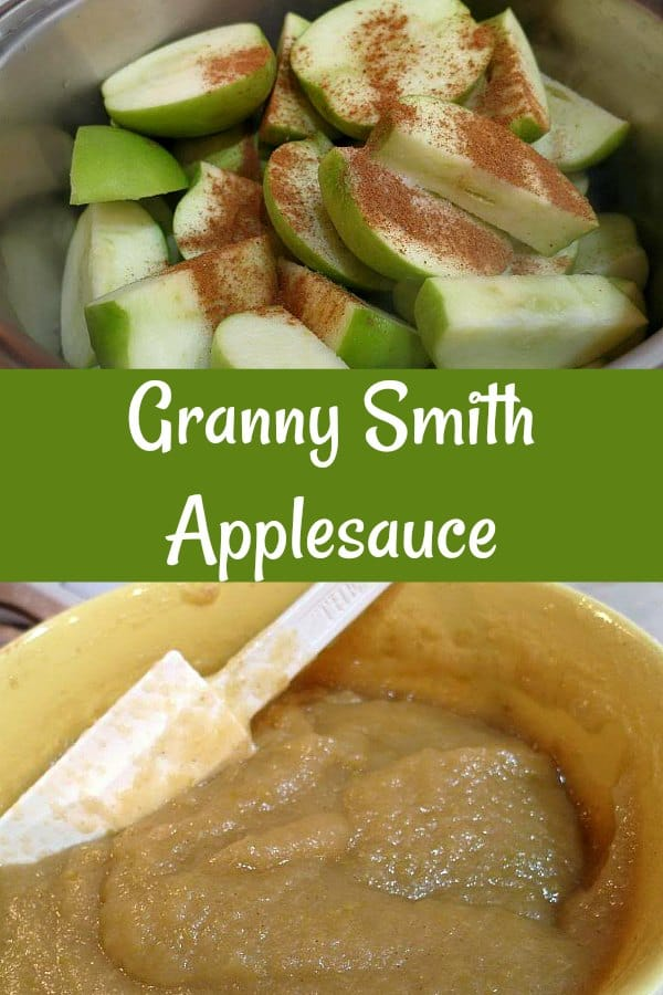 Granny Smith Applesauce is just sweet enough to celebrate the sweet-tart goodness that is the Granny Smith apple. Enjoy! #applesauce #babyfood #applerecipes | pastrychefonline.com