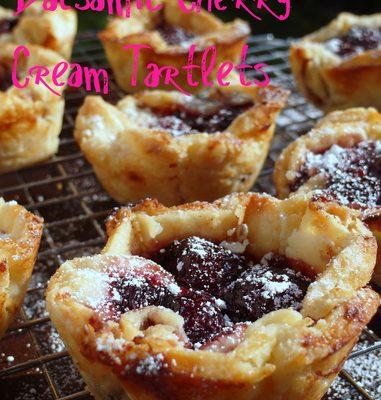 Balsamic Cherry Cream Tartlets