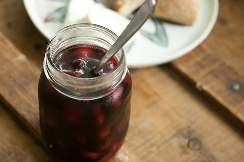 balsamic pickled cherries
