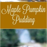 Maple Pumpkin Pudding (with Maple Spiced Pecans)
