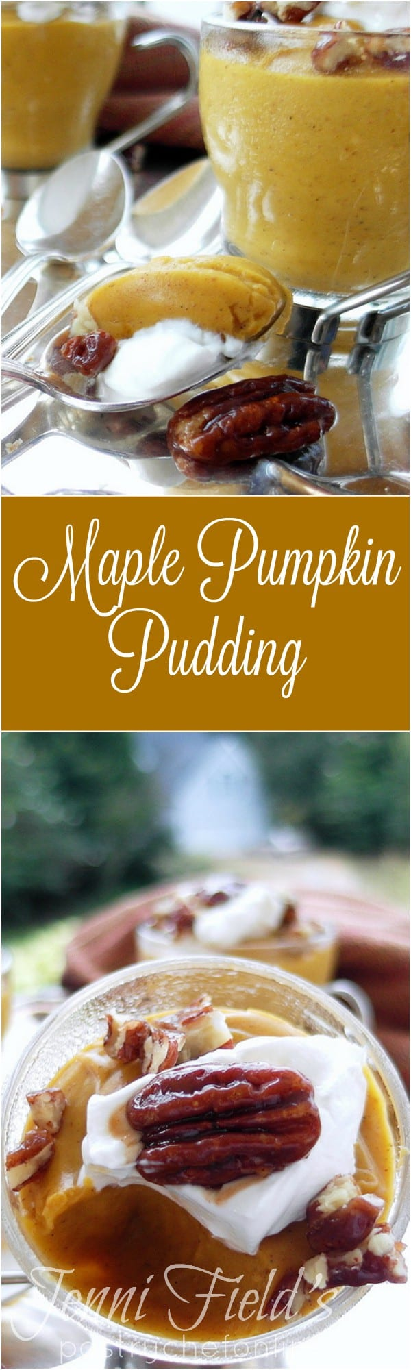 Maple Pumpkin Pudding is for people who love eating pumpkin pie but decide the crust is too filling after a big meal! It's also the perfect solution for not having enough oven space to bake a pie. Make this Thanksgiving pudding on the stove top and refrigerate it for 2-3 days until serving! | pastrychefonline.com