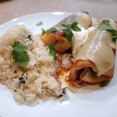 Chicken Chimichanga Recipe with Black Beans and Corn