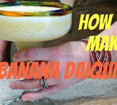Creamy, Dreamy Banana Daiquiris