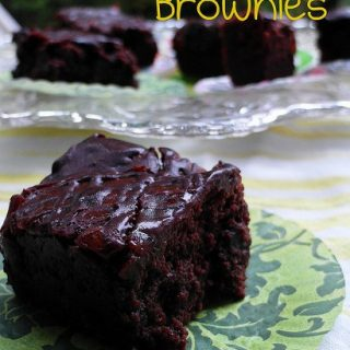 Apricot Brownies with Bittersweet Chocolate Glaze