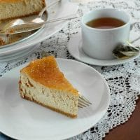Cinnamon Buttermilk Cheesecake with Apple Pie Topping