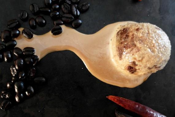 Spiced Chocoflan Coffee Ice Cream