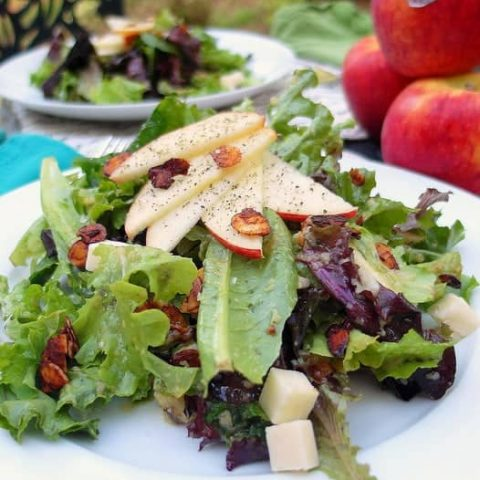Summer Salad with Roasted Envy Apple Vinaigrette