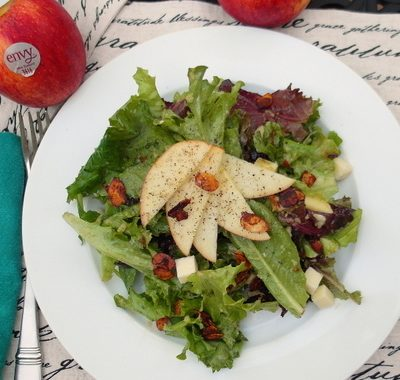 Summer Salad with Roasted Envy Apple Vinaigrette #loveNZfruit