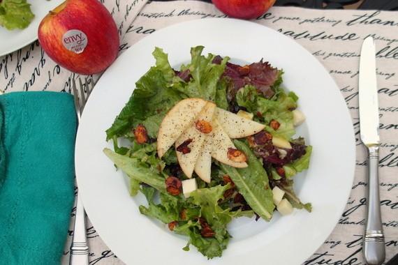 Summer Salad with Roasted Envy Apple Vinaigrette