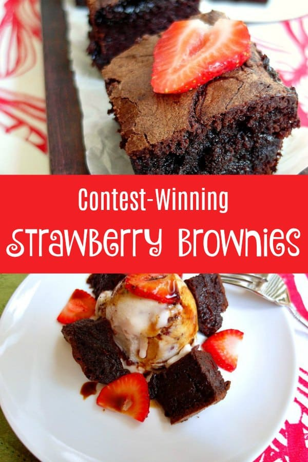 Make these contest-winning strawberry brownies immediately. Rich brownie batter spiked with fruity balsamic with a strawberry balsamic swirl. These are adult brownies--not because they're boozy or anything, but because I want to give you permission not to share with your kids!  Enjoy!   pastrychefonline.com