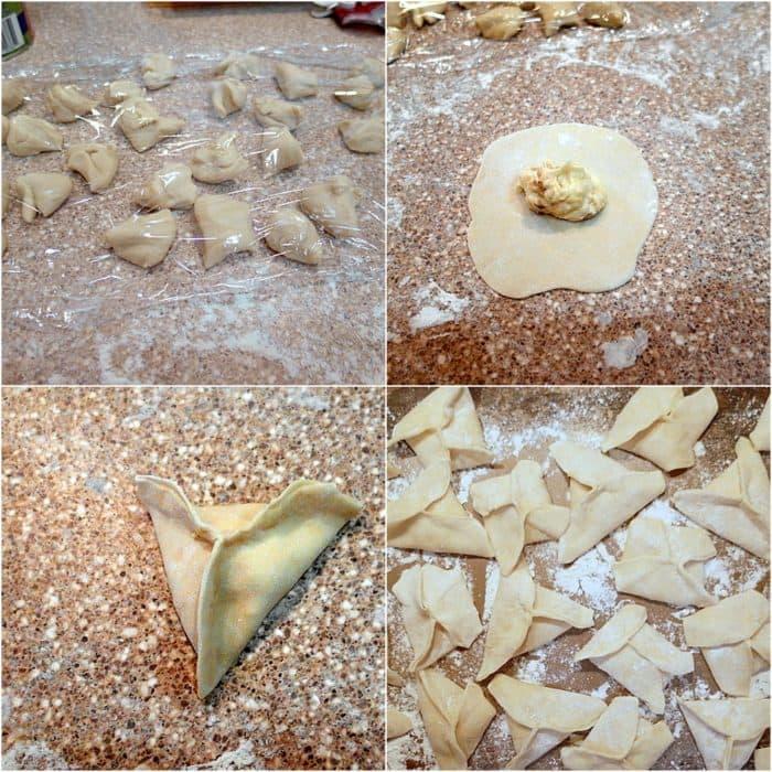 toasted almond cookie dumplings