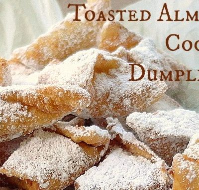 Toasted Almond Cookie Dumplings | Dumplings All Day Wong by Lee Anne Wong|Cookbook Giveaway