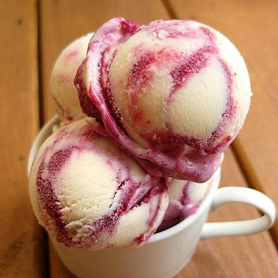 lavender creme fraiche ice cream