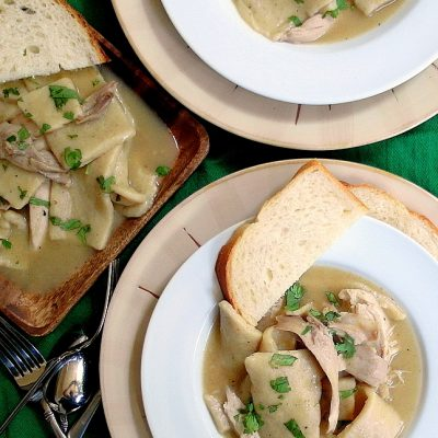 Southern Chicken and Dumplings (with Slick or Flat Dumplings)