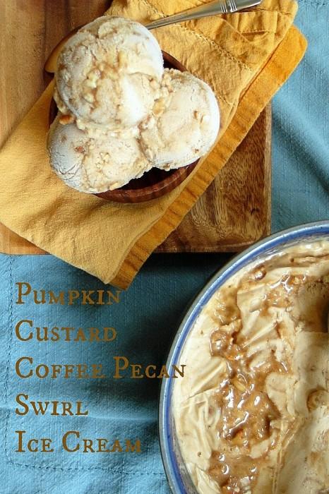 Pumpkin Custard Coffee Pecan Swirl Ice Cream