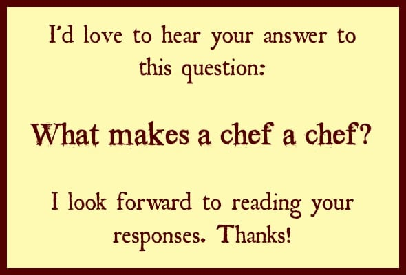 what makes a chef a chef