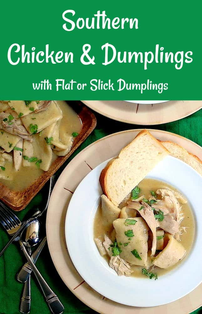 Southern Chicken and Dumplings are pure comfort food. Rather than puffy dumplings, southerners love