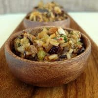 White and Wild Rice Stuffing with Dried Fruits and Kale