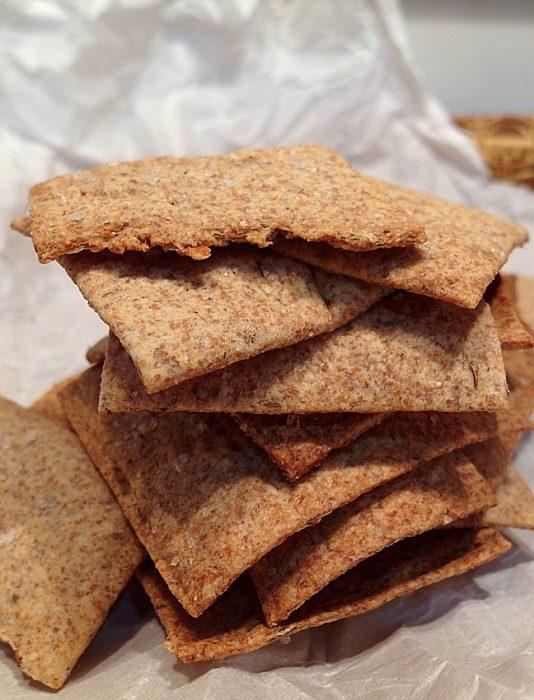 caraway rye crackers with Reuben dip