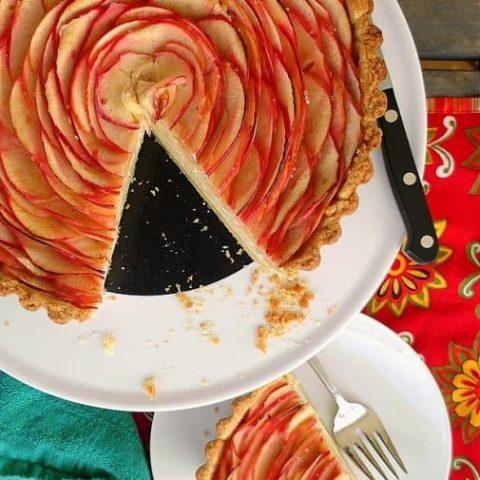 Apple Chai Cheesecake Tart