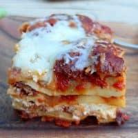 Five Cheese Hot Italian Sausage Lasagna