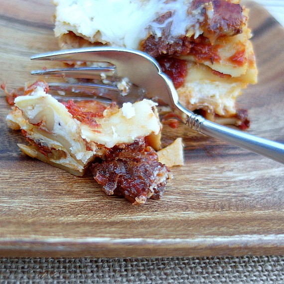 five cheese hot italian sausage lasagna 2