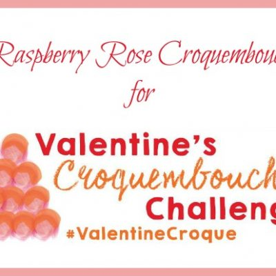 Raspberry Rose Croquembouche for Valentine's Day