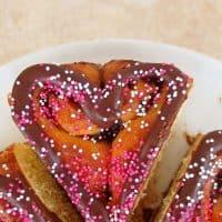 Chocolate Sweetheart Honey Bun Sweet Rolls