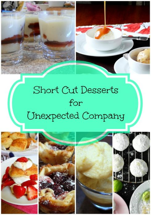 Short Cut Desserts for Unexpected Company