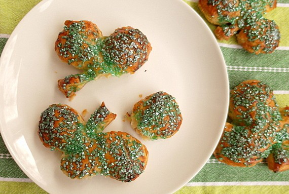 Last-Minute Easy Chocolate Mint Shamrock Hand Pies for St. Patrick's Day