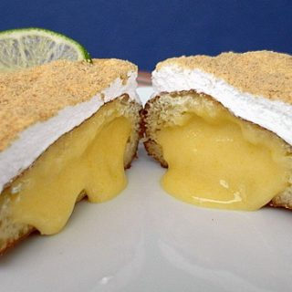 Key Lime Pie Doughnuts with White Chocolate Key Lime Curd