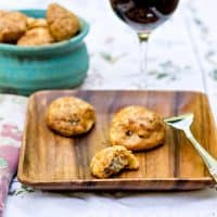 Gougeres with Bechamel aux Champignons for Progressive Eats